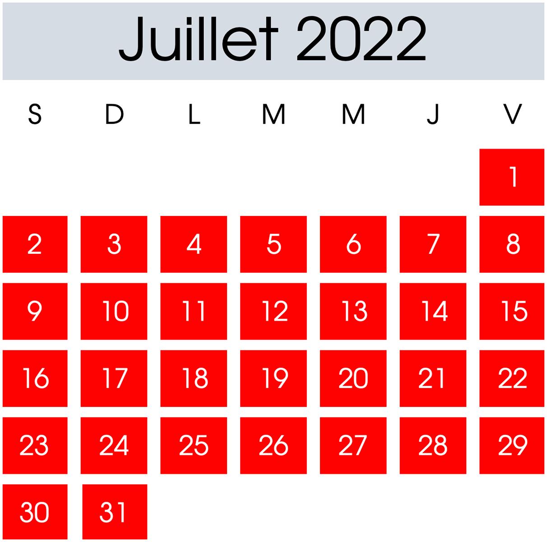 Location Juillet